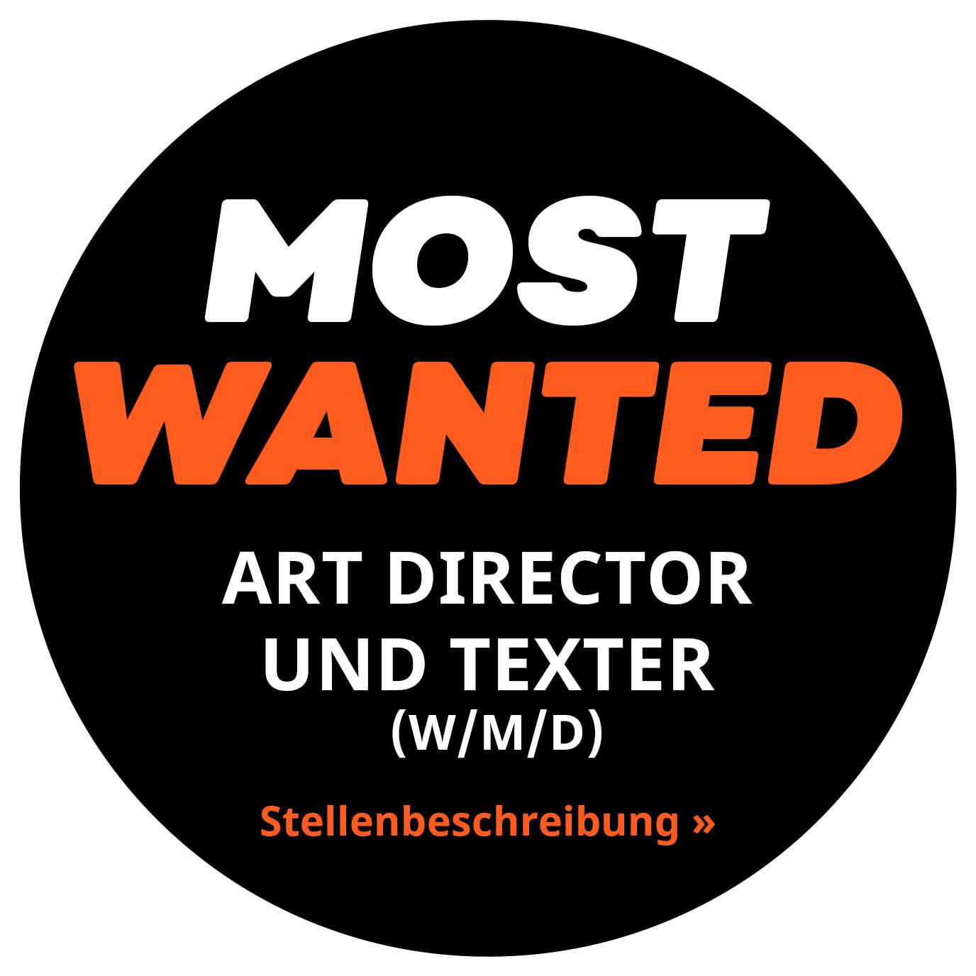 Art Director und Texter gesucht